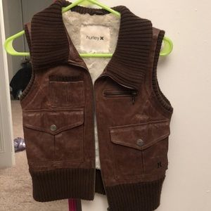 Hurley leather vest